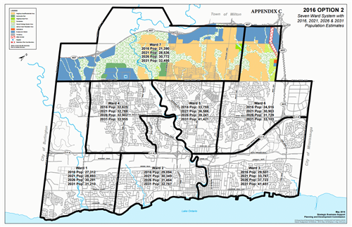 Town council eyes creation of seventh ward for Oakville's 2018 municipal election