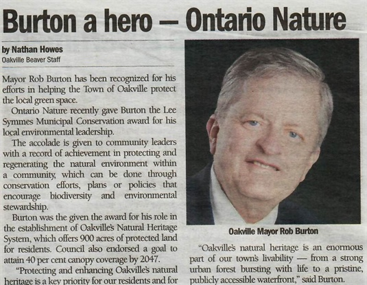 Burton a hero - Ontario Nature